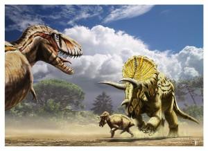 tyrannosaurus_vs_triceratops_by_dustdevil-d4oqjc8